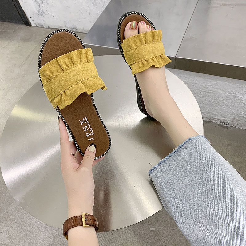 Female Sandals Lace Casual Slippers