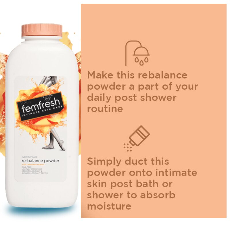 Femfresh Intimate Skin Care Re-Balance Talc-Free Powder 200g