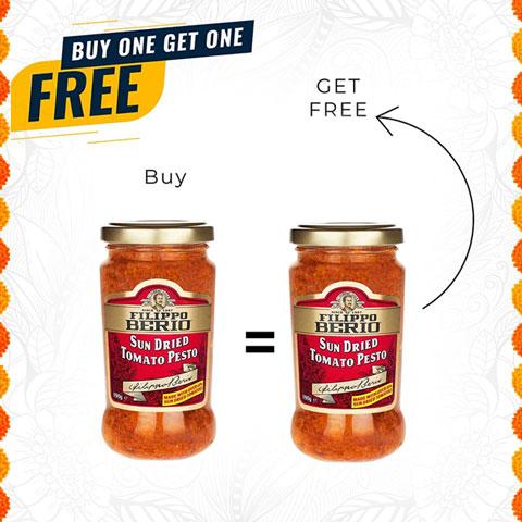 Filippo Berio Sun Dried Tomato Pesto 190g - Buy 1 Get 1