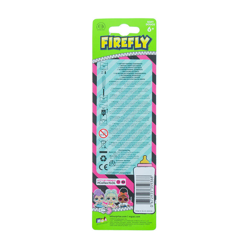 Firefly LOL Surprise Battery Powered Toothbrush - Soft 6+