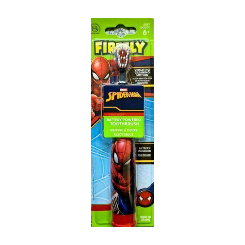 Firefly Marvel Spider-Man Battery Powered Toothbrush - Red