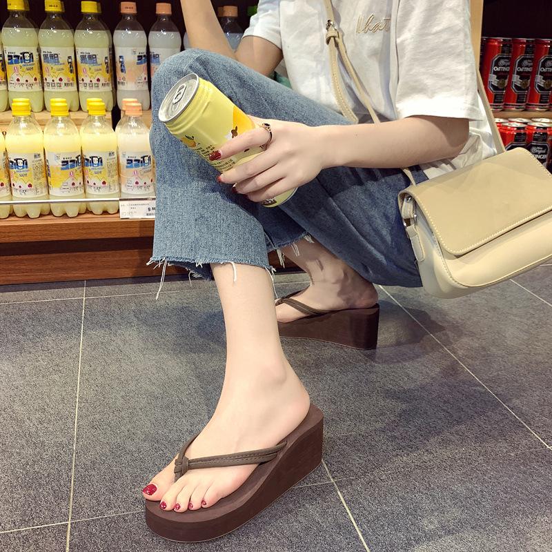 Women's Casual Flip-Flops High-Heeled Wedges