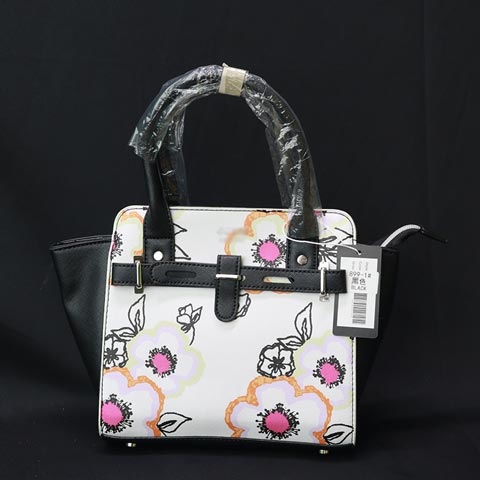 Floral Printed Inspired By Ladies Hand Bag (899-1) - Black