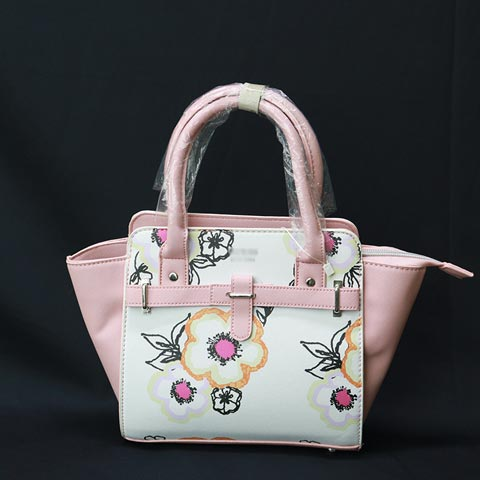 Floral Printed Inspired By Ladies Hand Bag (899-1) - Pink