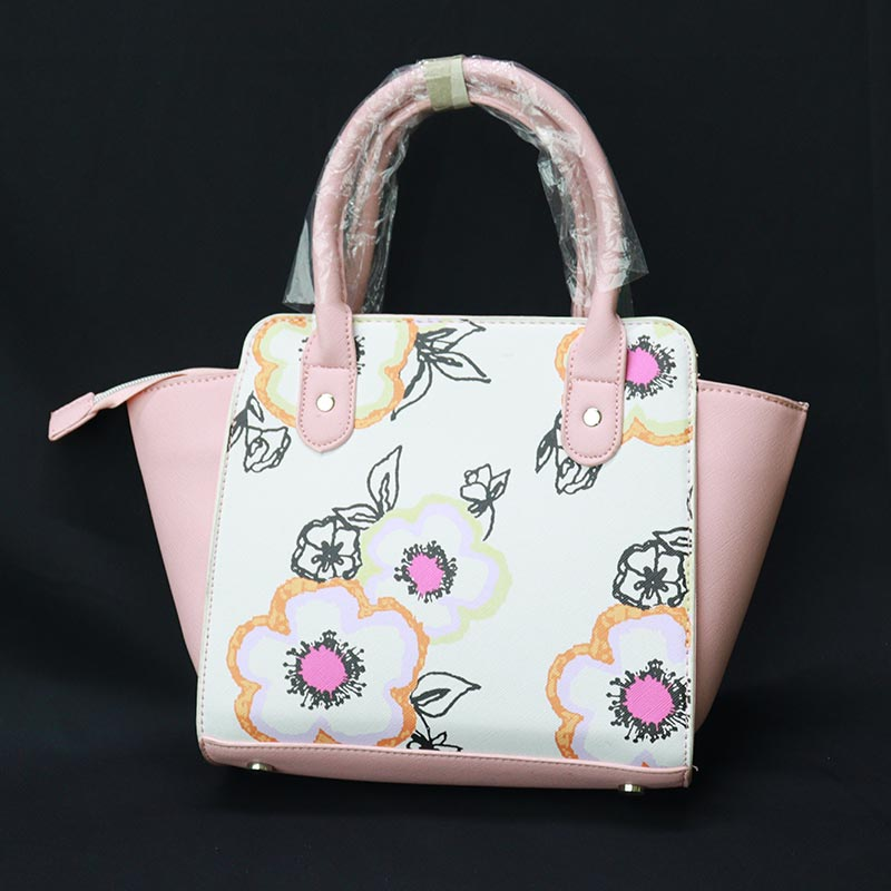 Floral Printed Inspired By Ladies Hand Bag (899-1) - Pink