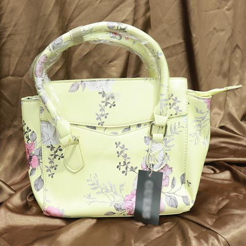 Floral Printed Inspired By Ladies Handbag (218) - Yellow Flower