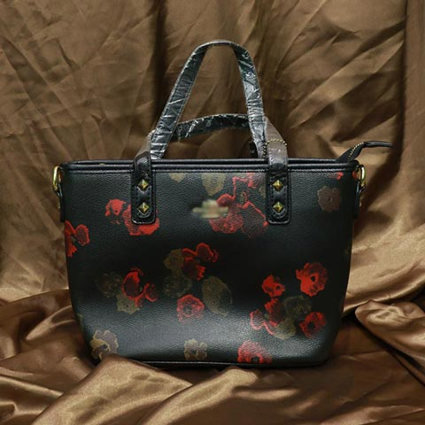 Floral printed Inspired By Ladies Handbag (658) - Black Camellia