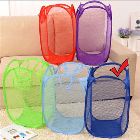 Folding Dirty Clothes Storage Basket - Blue