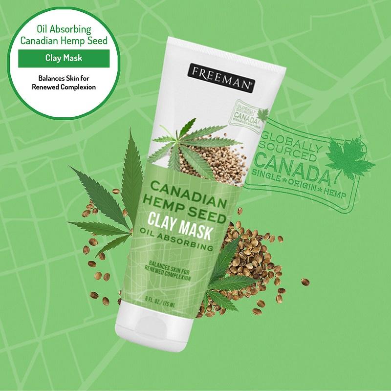 Freeman Canadian Hemp Seed Oil Absorbing Clay Mask 175ml