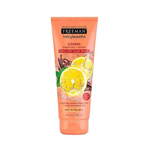 Freeman Clearing Sweet Tea & Lemon Peel Off Clay Mask 175ml