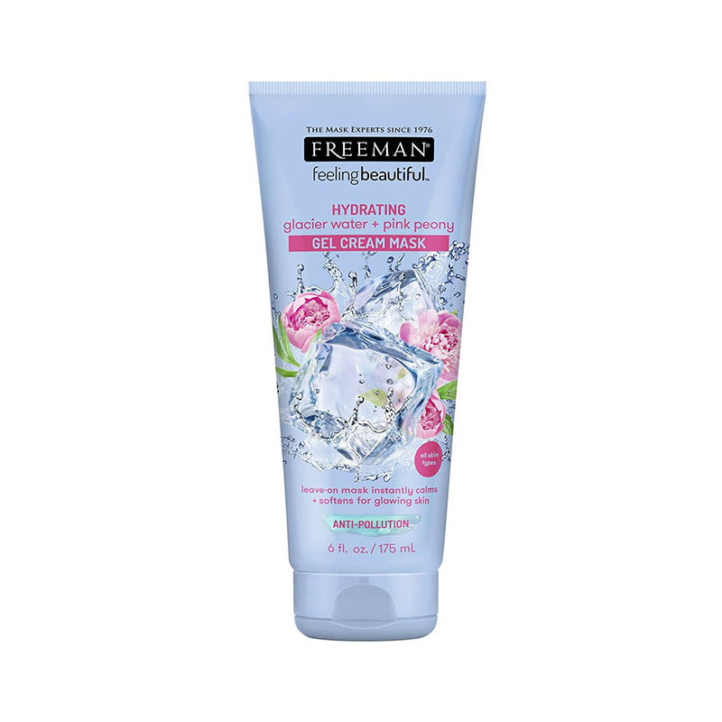 Freeman Hydrating Glacier Water + Pink Peony Gel Cream Mask 175ml