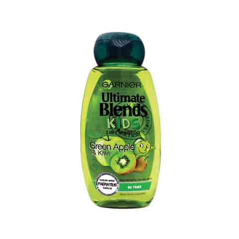 Garnier Ultimate Blends Green Apple & Kiwi Kids 2 In 1 Shampoo 250ml
