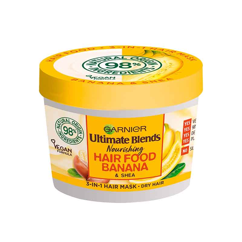 Garnier Ultimate Blends Nourishing Hair Food Banana & Shea 3 In 1 Dry Hair Mask 390ml