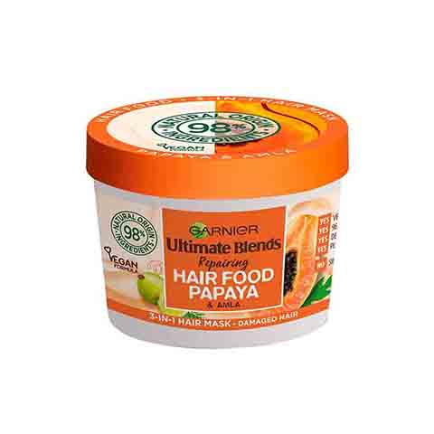 Garnier Ultimate Blends Repairing Hair Food Papaya & Amla 3 In 1 Damaged Hair Mask 390ml