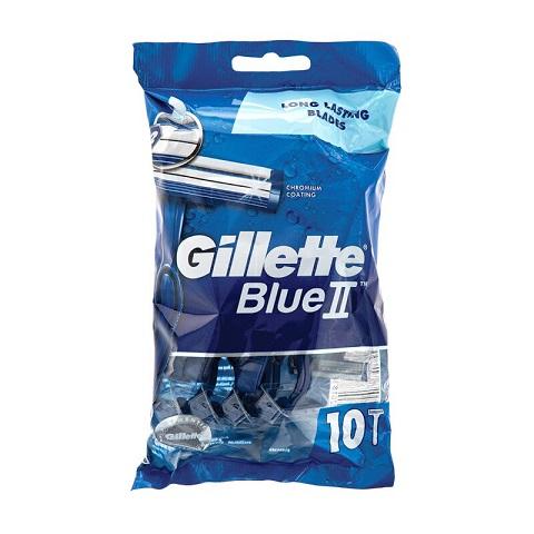 Gillette Blue II Disposable Razors Pack - 10 Razors