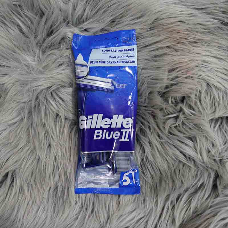 Gillette Blue II Shaving Razor For Men 5 Pieces