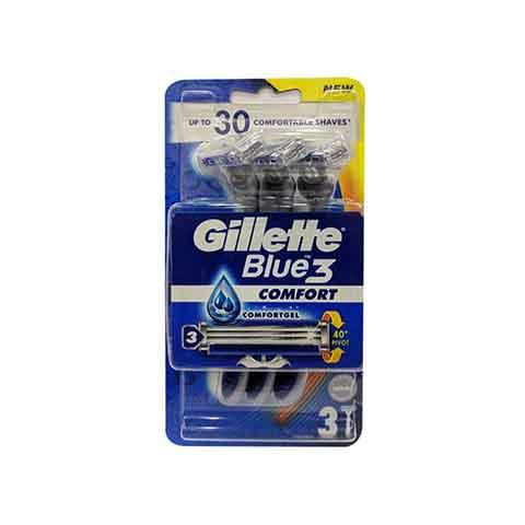 Gillette Blue3 Comfort Gel Razors - 3 Razors (9946)