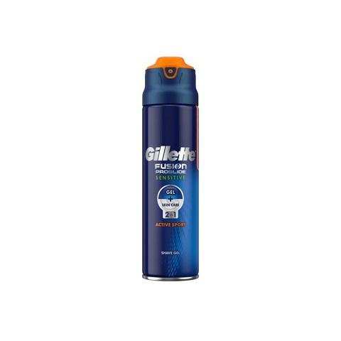 Gillette Fusion Proglide Sensitive Active Sport 2 in 1 Shaving Gel 170ml