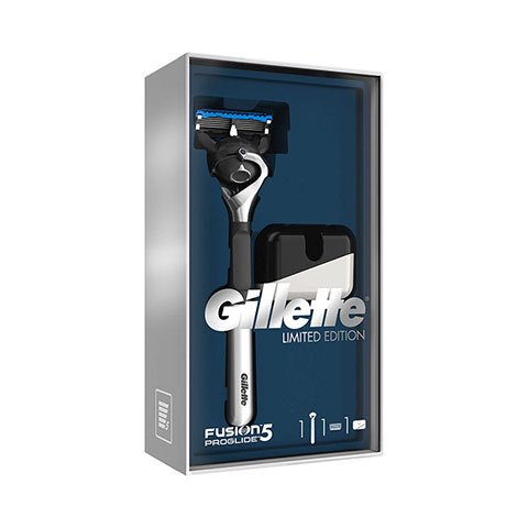 Gillette Fusion5 Proshield Limited Edition Chrome Black Razor + Stand