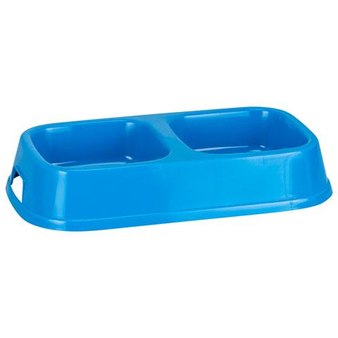 Good Boy Double Diner Dog Bowl - Blue (3047)