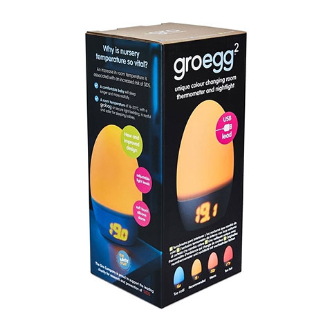 GroEgg 2 Unique Colour Changing Room Thermometer and Nightlight (53426)