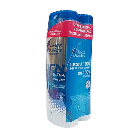 Head & Shoulders Men Ultra Male Care Anti-Roos Shampoo 2x280ml