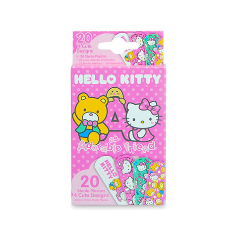 Hello Kitty As Adorable Friend 20 Sterile Plasters With 4 Cute Designs