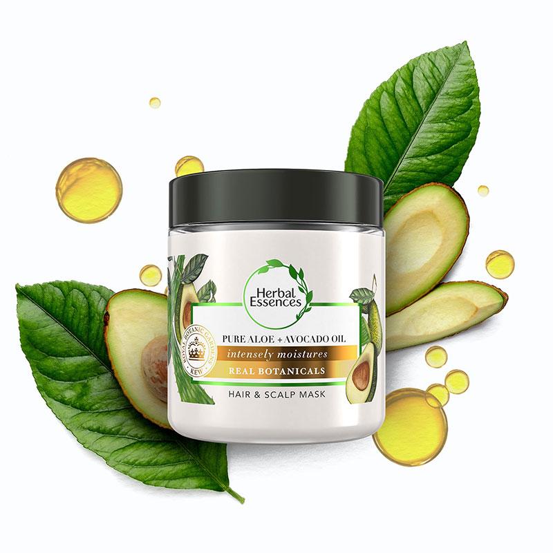 Herbal Essences Bio Renew Pure Aloe + Avocado Oil Hair & Scalp Mask 250ml