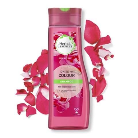Herbal Essences Ignite My Colour - Colour Safe Shampoo With Rose Essences For Coloured Hair 400ml