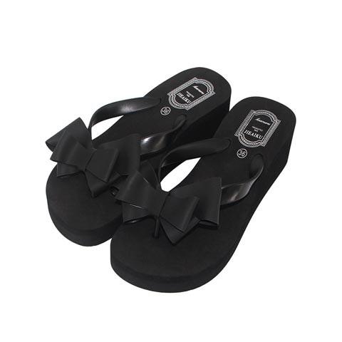 Ladies High-Heeled Bow Sandals