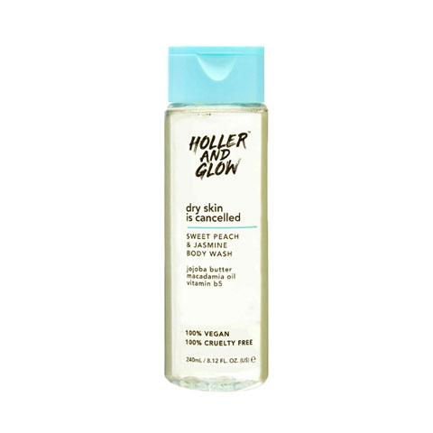 Holler And Glow Sweet Peach & Jasmine Body Wash 240ml