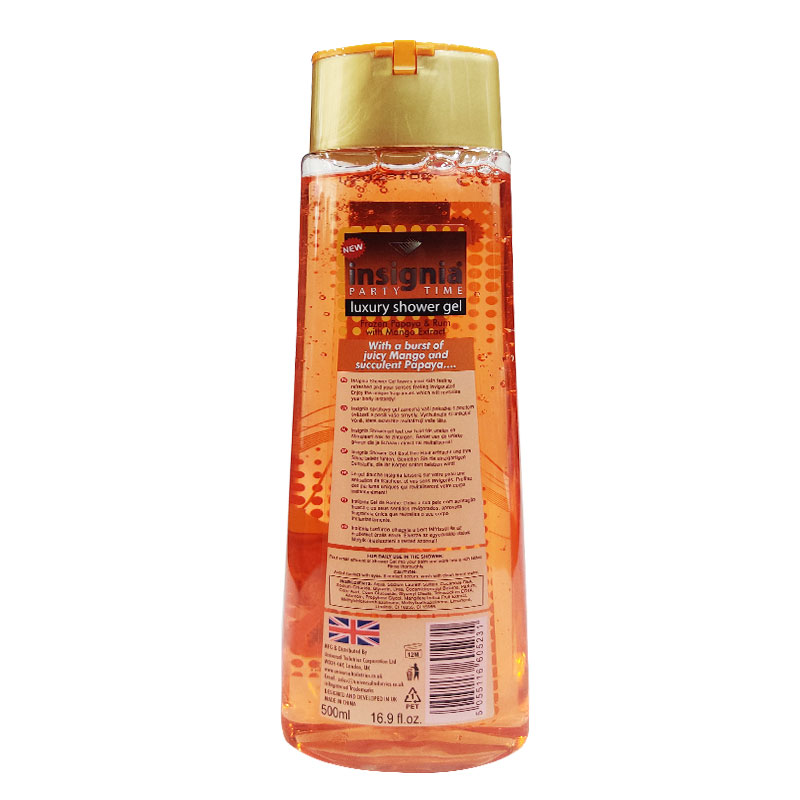 Insignia Luxury Shower Gel Frozen Papaya & Rum With Mango Extract 500ml
