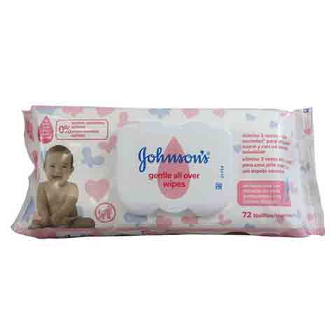 Johnson's Gentle All Over Baby Wipes - 72 Wipes