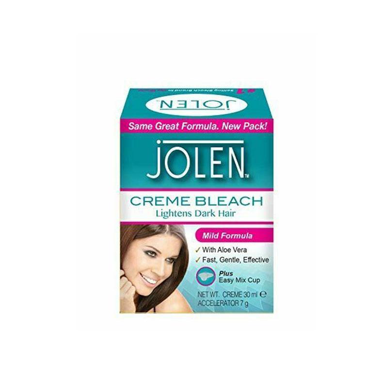 Jolen Creme Bleach Lightens Dark Hair 30ml - Mild Formula