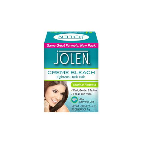 Jolen Creme Bleach Lightens Dark Hair 30ml - Original Formula