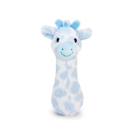 Keel Toys Snuggle Giraffe Baby Rattle - Blue