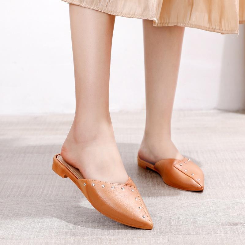 Korean Fashion Loafer Sandals For Ladies