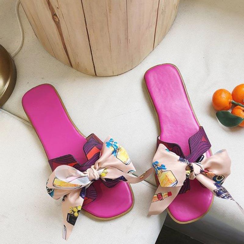 Korean Version Bow Flat Slippers