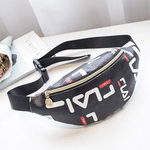 Korean Version Female Contrast Color Waist Bag