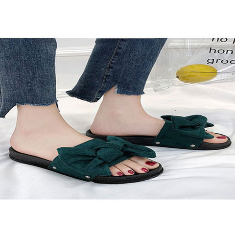 Korean Version Of The Bow Flat Sandals