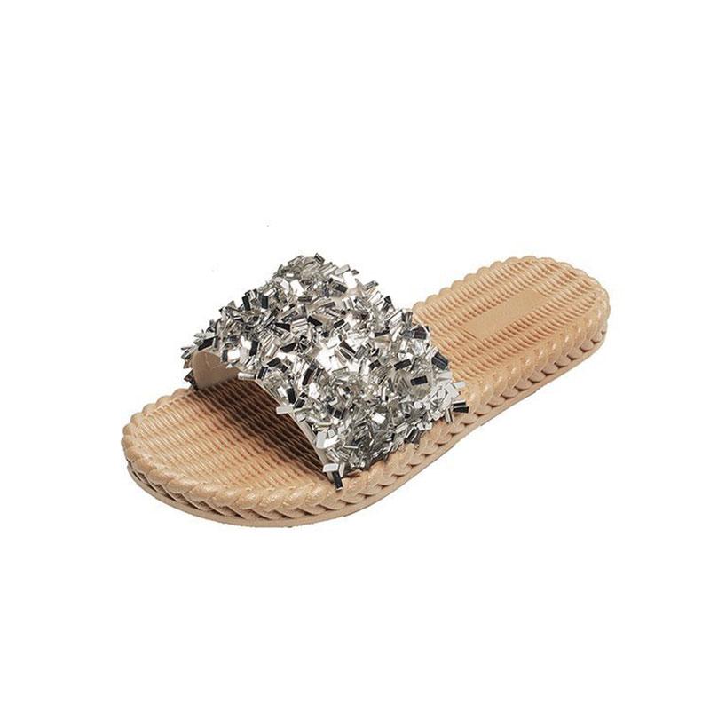 Korean Version Pearl Slippers