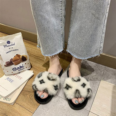 Korean Version Winter New Cotton Slippers