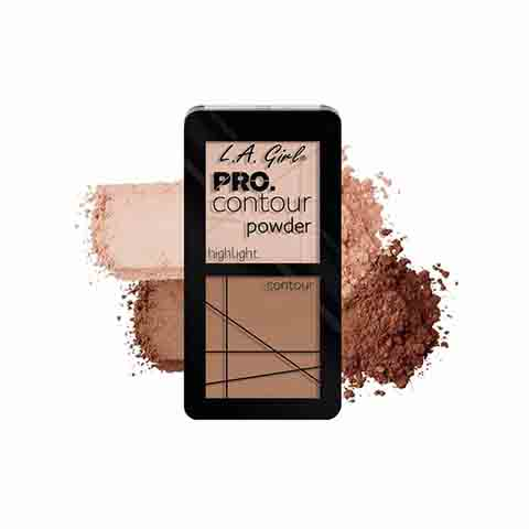 L..A. Girl Pro Contour Powder & Highlight Duo - GCP665 Tan