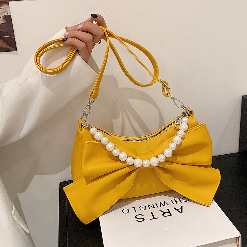 Ladies Fashionable Bow Knot Style Pearl Bag (1001004)