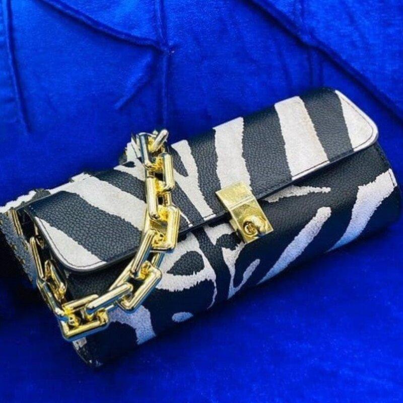 Ladies Zebra Print Small Messenger Bag (1001063)