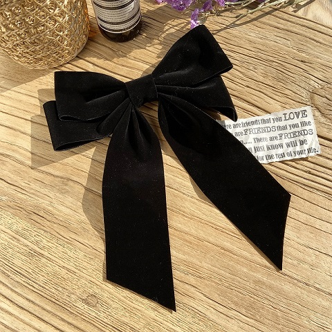 Ladies Super Fairy Chinese Bow Clip Hairpin - Black (20151)