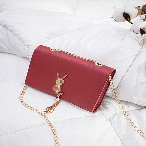 Ladies Tassel Chain Single Shoulder Small Square Bag