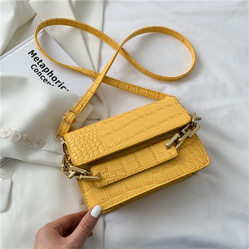 Ladies Trendy Crocodile Pattern Small Bag (1001009)