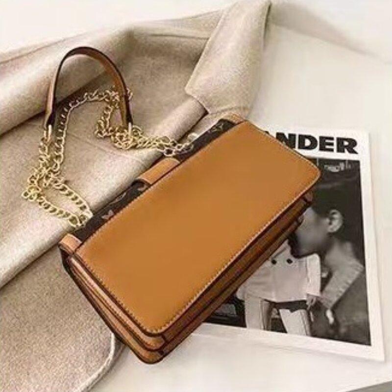 Ladies Trendy Floral Printed Chain Shoulder Bag (1001038)