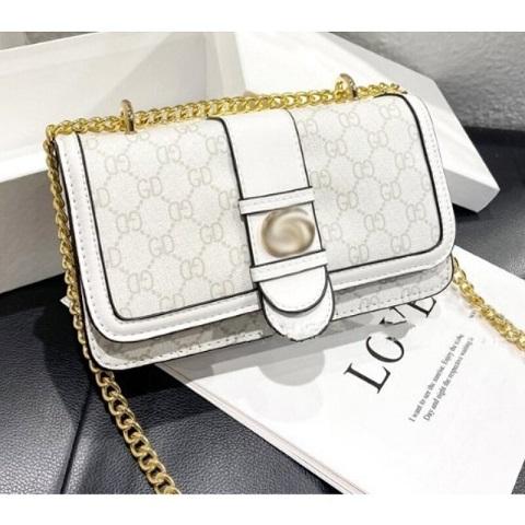 Ladies Trendy GD Printed Chain Shoulder Bag (1001040)